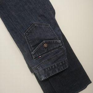 TOMMY HILFIGER dark blue bootcut jeans